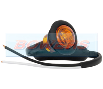 Amber LED Button Marker Lamp