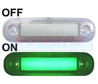 12v 24v surface mount green led marker lamp light. Black Bedroom Furniture Sets. Home Design Ideas