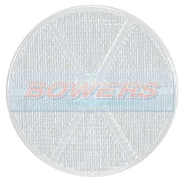 White Clear 60mm Round Stick On Front Reflector