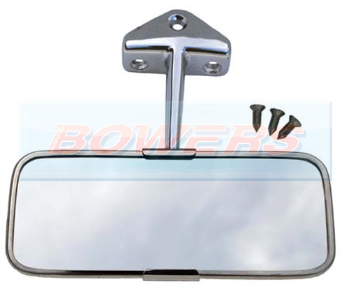 classic mini stainless steel chrome interior rear view mirror. Black Bedroom Furniture Sets. Home Design Ideas