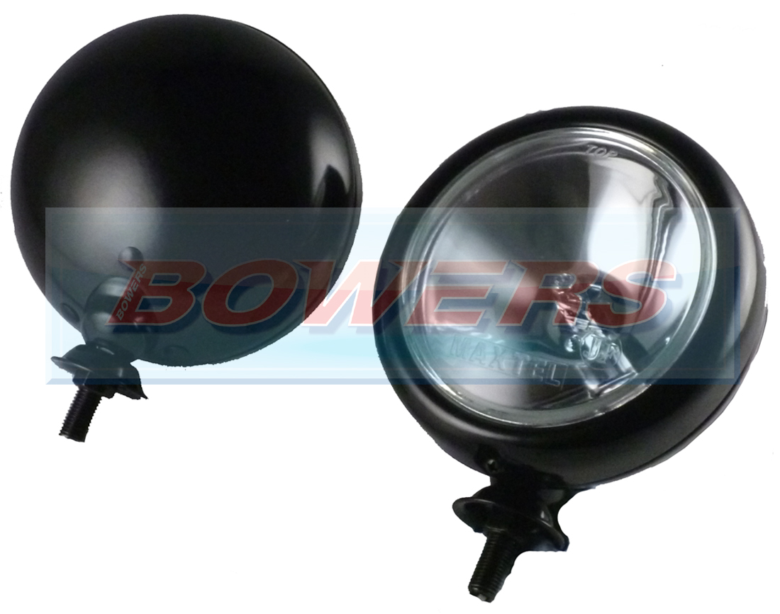 Black 5 Quot Spotlights Spotlamps For Classic Cars Minis Inc