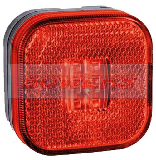12v 24v Square Red Led Rear Marker Lamp Light