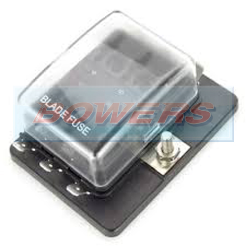 single power in 6 way standard blade fuse box with led failure warning lights