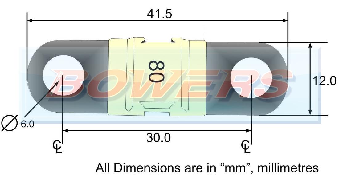 80a amp white midi fuse (single) 32v dc rated 60 amp fuse panel 80a midi fuse