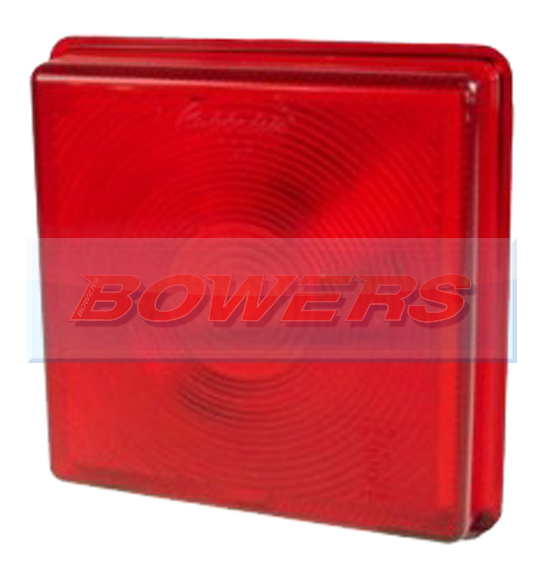 Rubbolite 5428 Square Red Rear Stop Tail Lamp Light Lens