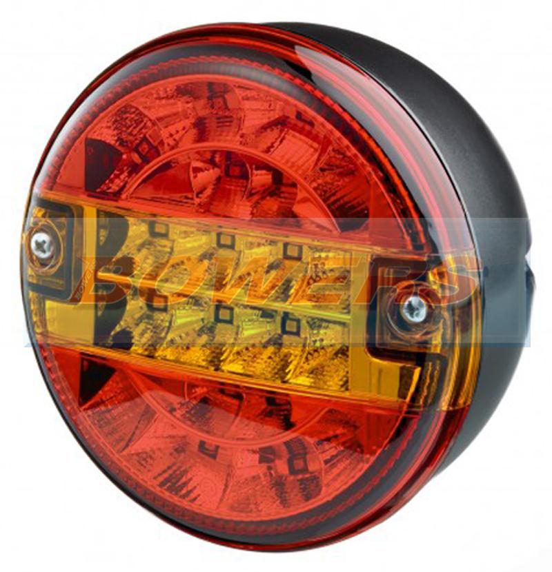 Truck Lite 12v 24v Universal Led Rear 140mm Combination