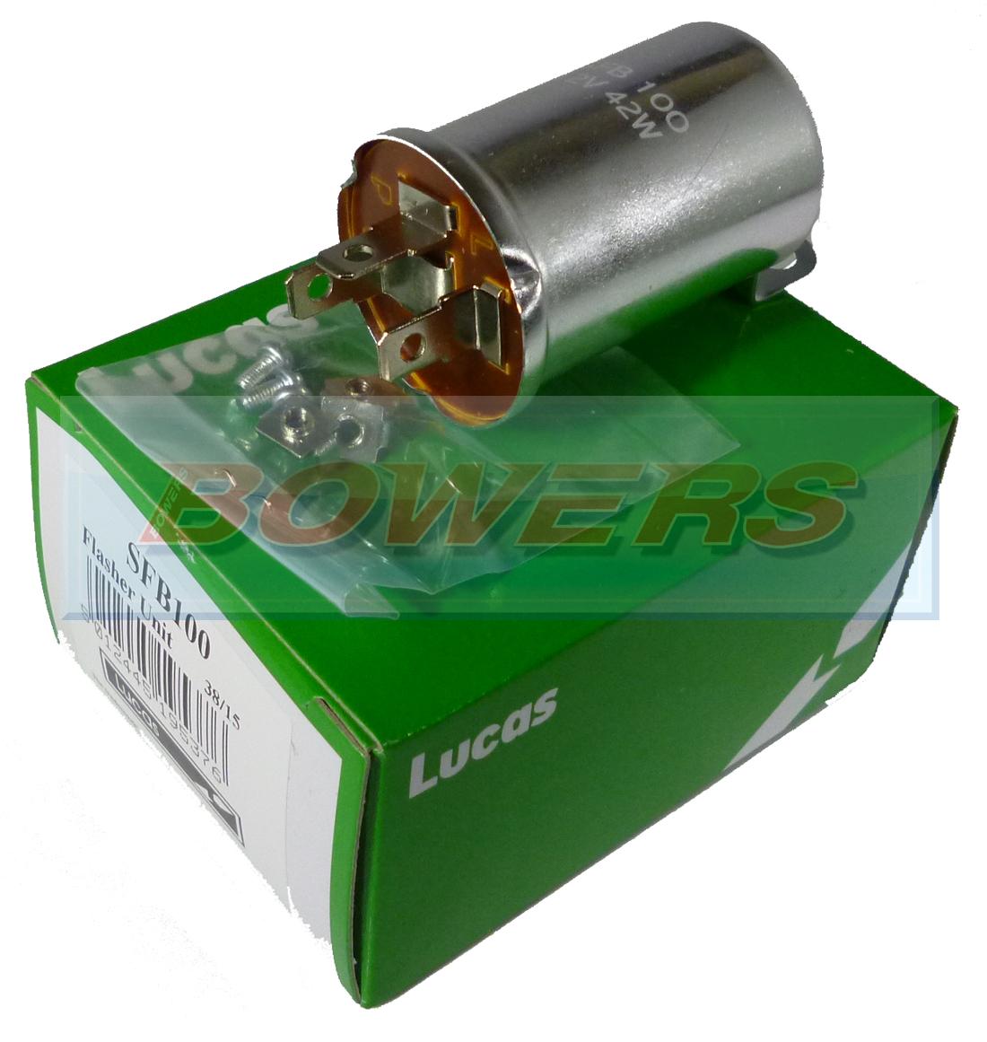 Genuine Lucas Sfb100 35010 Fl5 12v 42w 3 Pin Flasher Unit