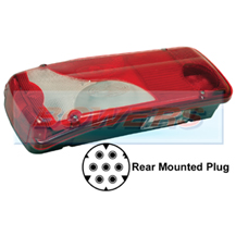 Genuine Vignal 156340 LC8 Rear Left Hand Nearside Combination Tail Lamp/Light Unit For Scania, Mercedes & VW