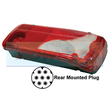 Genuine Vignal 156350 LC8 Rear Right Hand Offside Combination Tail Lamp/Light Unit For Scania, Mercedes & VW