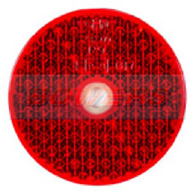 Red 60mm Round Screw On Rear Reflector