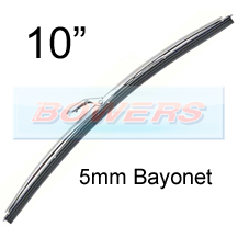 "10"" Stainless Steel Classic Car Wiper Blade (5mm Bayonet Fitting)"