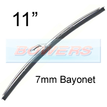 "11"" Stainless Steel Classic Car Wiper Blade (7mm Bayonet Fitting)"