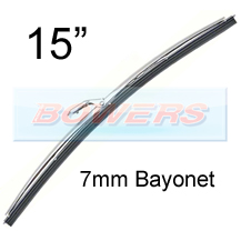 "15"" Stainless Steel Classic Car Wiper Blade (7mm Bayonet Fitting)"