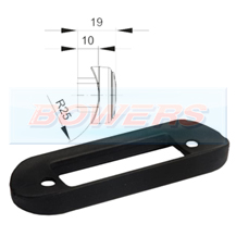Curved Black Bar Mounting Gasket For Flush Fit LED Marker Lights