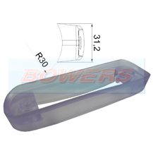Curved Clear Bar Mounting Gasket For Surface Mount LED Marker Lights