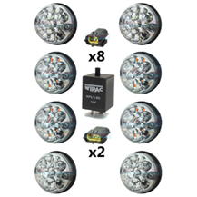 Land Rover Defender Clear 73mm LED Lamp/Light Upgrade Kit RDX As Wipac DA1191