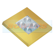 Gold Square 12v/24v LED Interior/Exterior Light