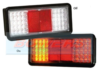 Sim 3159 12v/24v Universal Clear Lens LED Rear Combination Tail Lamp/Light 1.3159.5000000