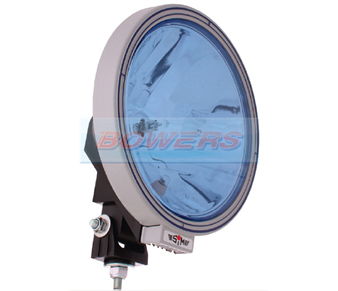 "Sim 3227 9"" Round Spot/Driving Lamp/Light With Blue Lens & Side/Position Light 1.3227.0000504"