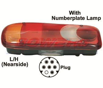 Vignal LC5 152170 Rear Tail Light (Eclipse/Footprint/Teardrop Style)