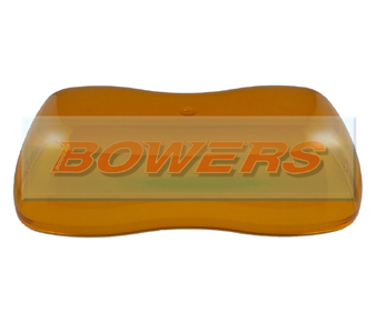 Britax 18545.00 A421/A424 Replacement Amber Lightbar Lens
