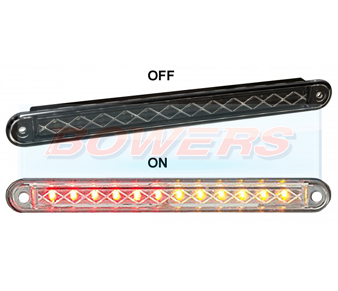 LED Autolamps 235 Black Slim Line LED Rear Combination Light Lamp