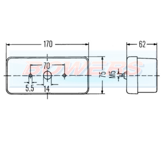 Hella 2BE002582031 Tractor Front Side / Indicator Light Schematic