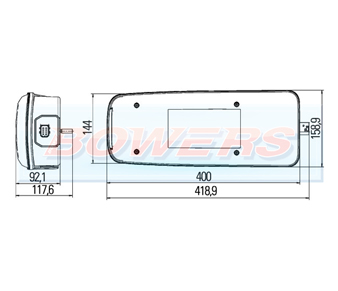 Hella 2VP011511241 DAF CF CL XF Rear Left Hand Light Unit Schematic