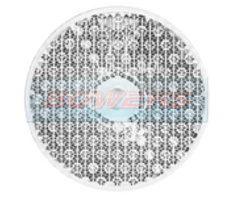 White/Clear Round Stick/Screw On Reflector 60mm
