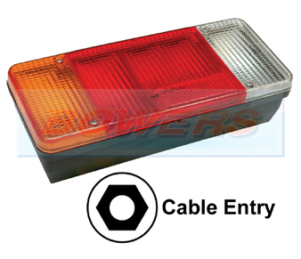 Sim 3121 Rear Nearside Combination Tail Lamp Light Unit For Iveco Daily, Fiat Ducato Tipper, Eurocargo
