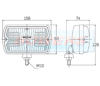 Sim 3210 Front Fog Lamp/Light Peugeot 205 GTI CTI 106 306 Mi16 Schematic