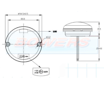 95mm NAS LED Round Light Schematic