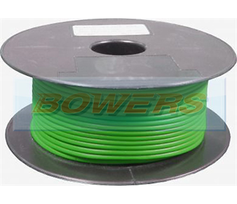 Green Single Core Cable 14/0.30mm 1.0mm² 50m Roll BOW9070000GG