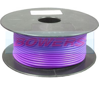 Purple Single Core Cable 14/0.30mm 1.0mm² 50m Roll BOW9070000PP
