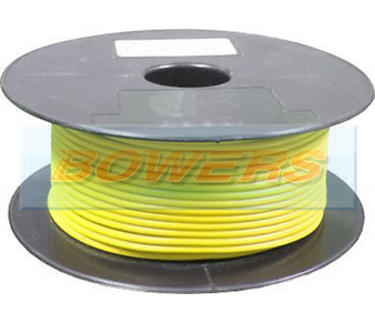 Yellow Single Core Cable 14/0.30mm 1.0mm² 50m Roll BOW9070000YY