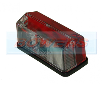 Hella 2XS005020057 Red Clear Caravan Side Marker Lamp