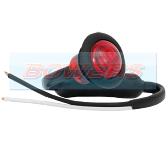 Red LED Button Marker Lamp