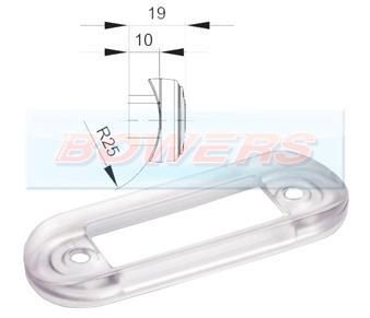 Clear LED Flush Fit Bar Gasket