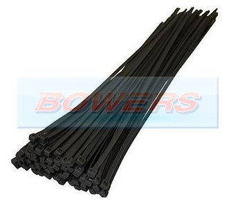 Black Cable Ties 100pk 300mm x 4.8mm BOW9994005