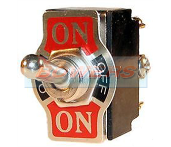 12v Heavy Duty Double Pole Metal Toggle Switch ON/OFF/ON (Screw Terminals) BOW9996062