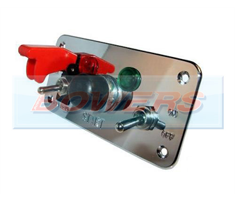 12v Push Button 5 Hole Polished Aluminium Ignition Switch Panel BOW9996281