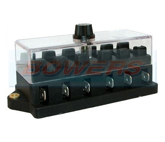 6 Way Standard Blade Fuse Box BOW9997072