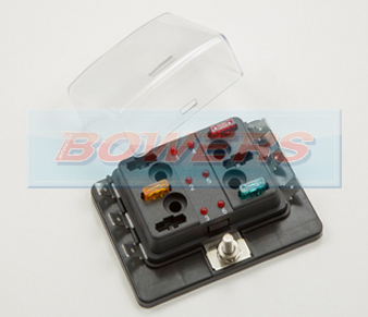 6 Way Mini Blade LED Fuse Box
