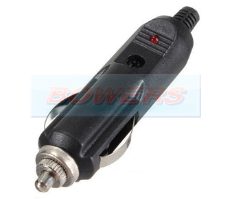 12v Male Wired Cigarette Lighter Plug/Connector With LED BOW9998099