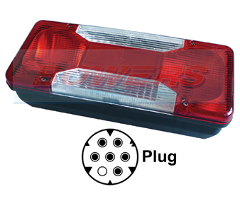 Rear Offside Combination Tail Lamp Light Unit For Iveco Daily Tipper 2006 Onwards