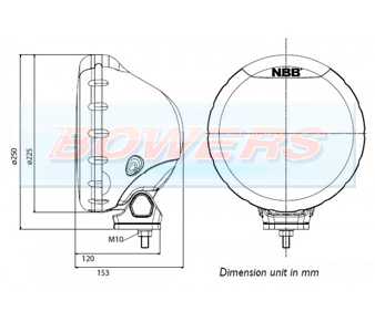 NBB Alpha 225 Halogen Spotlight Schematic