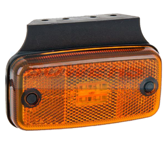 Amber LED Side Marker Light With Bracket FT-019Z+KLED