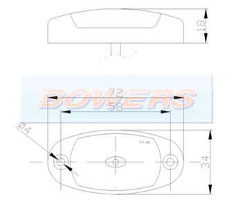 Oval LED Marker Lamp FT-025 Schematic
