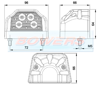 FT-031 LED Number Plate Light Schematic