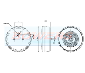 Glow Ring LED Hamburger Fog/Reverse Lamp FT-111 + 112 Schematic